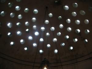 Hamam top light circles