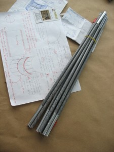 Tent poles and notes